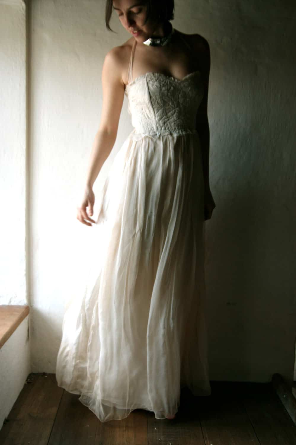 Rustic boho wedding dress for outdoor beach weddings ...