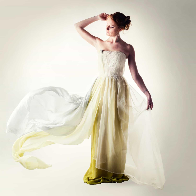 f381dd68efd Rudbeckia ~ Naturally dyed wedding dress - Larimeloom