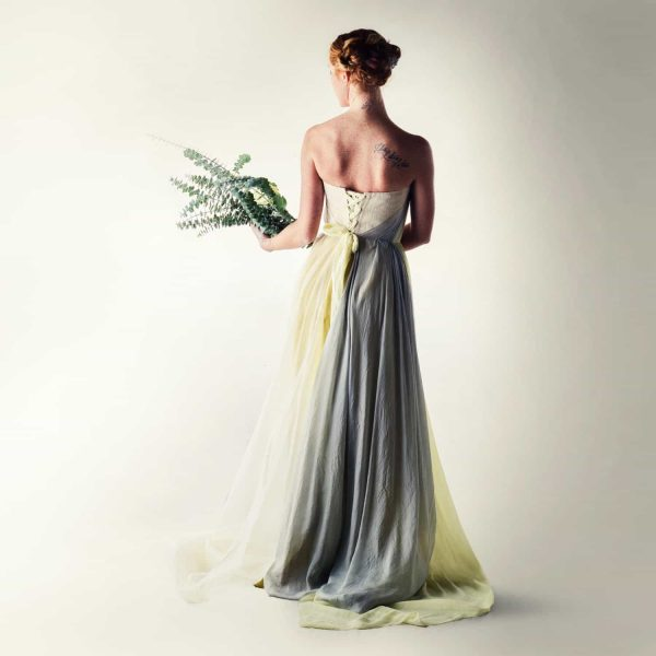 Naturally dyed wedding dress