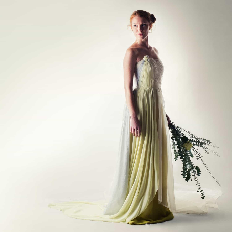 rudbeckia naturally dyed wedding dress larimeloom