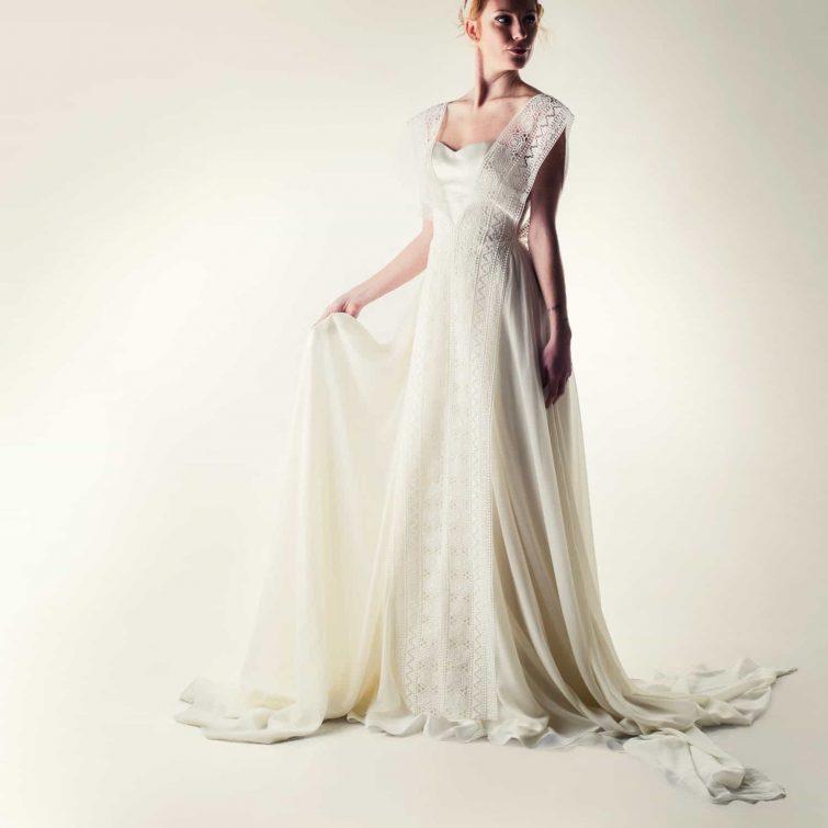 Lacey fairy wedding dress