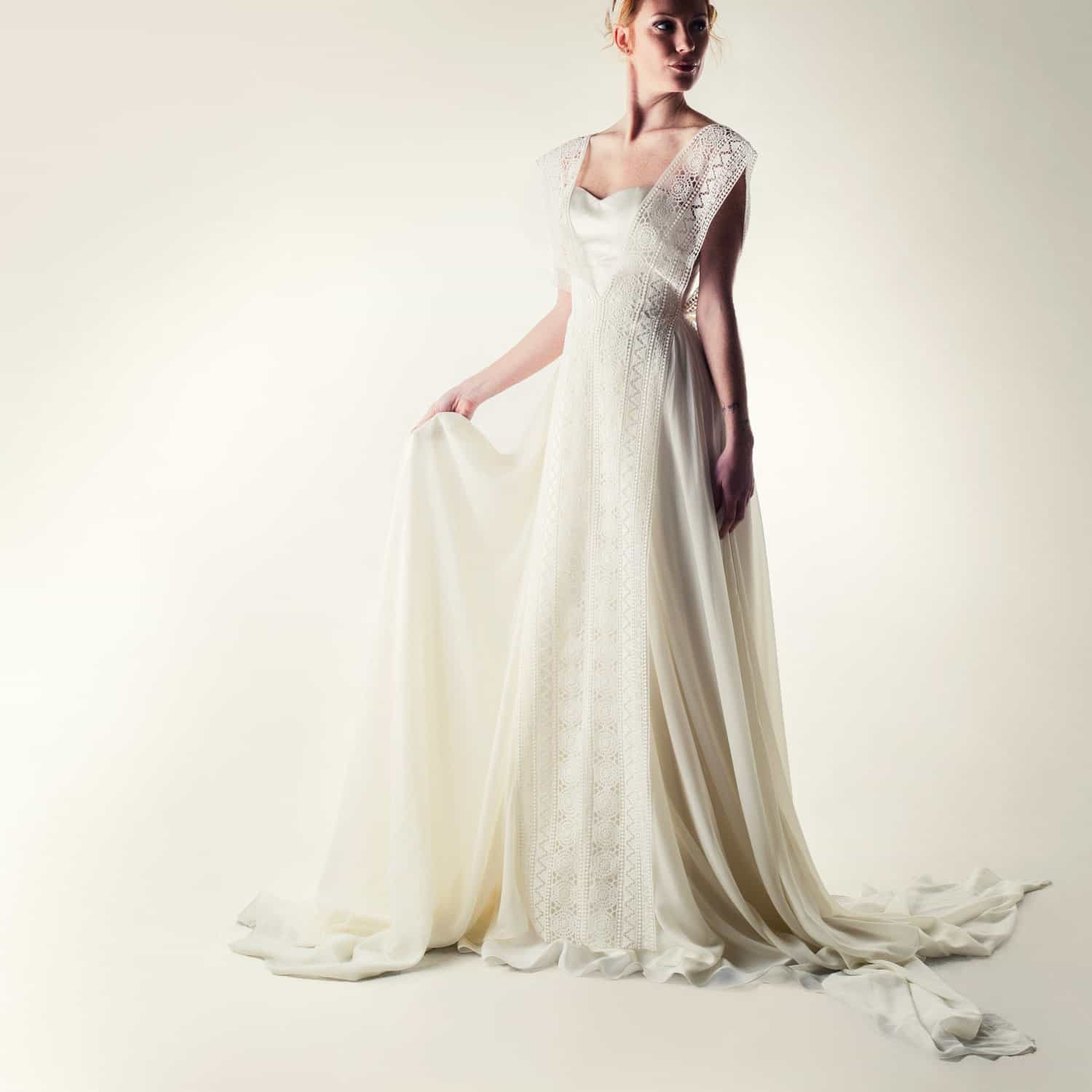 332b6e91176aa Artemisia ~ Lacey fairy wedding dress