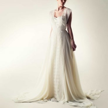 Lacey fairy wedding dress