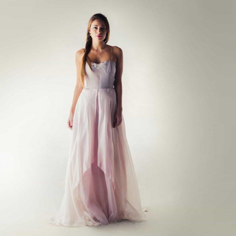 Wedding dress, Lavender Wedding dress, Fairy wedding dress, Bohemian wedding dress, Modest wedding dress, Corset wedding dress, Boho dress
