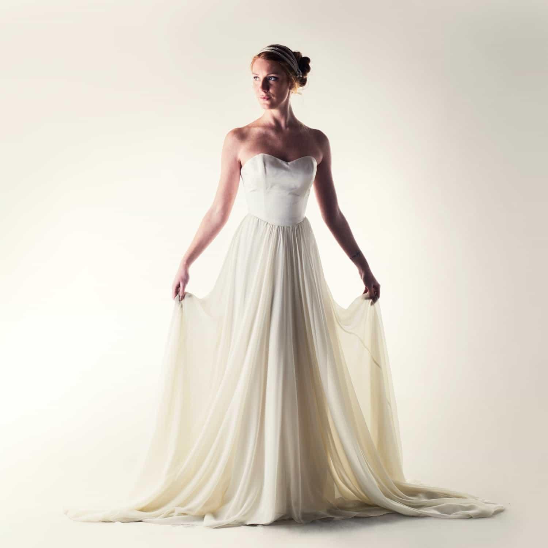 Lotus romantic princess wedding dress larimeloom wedding dress princess wedding dress fairy wedding dress silk wedding dress chiffon junglespirit Image collections