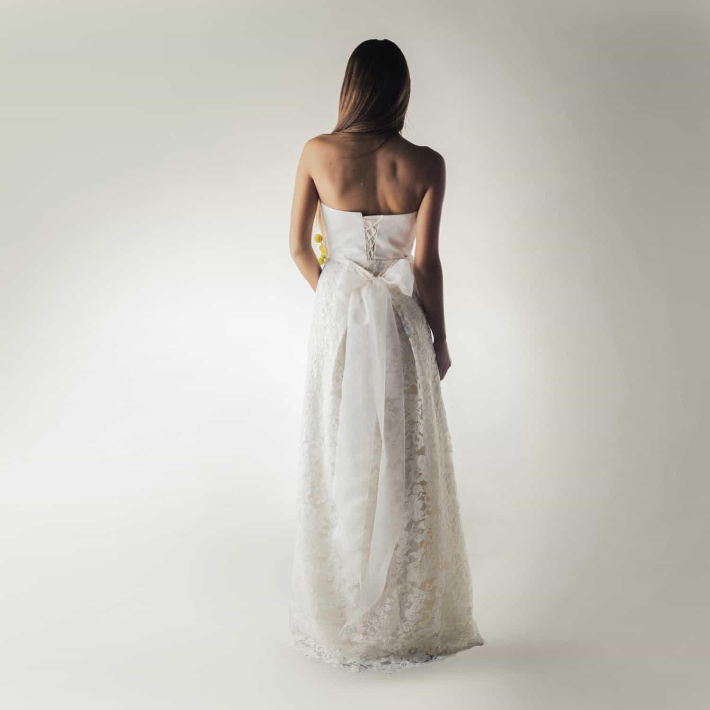 Bridal Separates: Lace And Silk Bridal Skirt - Larimeloom