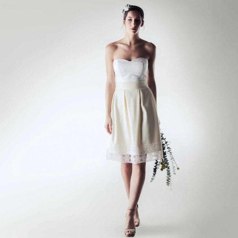 Wedding skirt, Winter Wedding Dress separates, Wool wedding skirt, Bridal skirt, Unique wedding dress, Short wedding dress, Reception dress