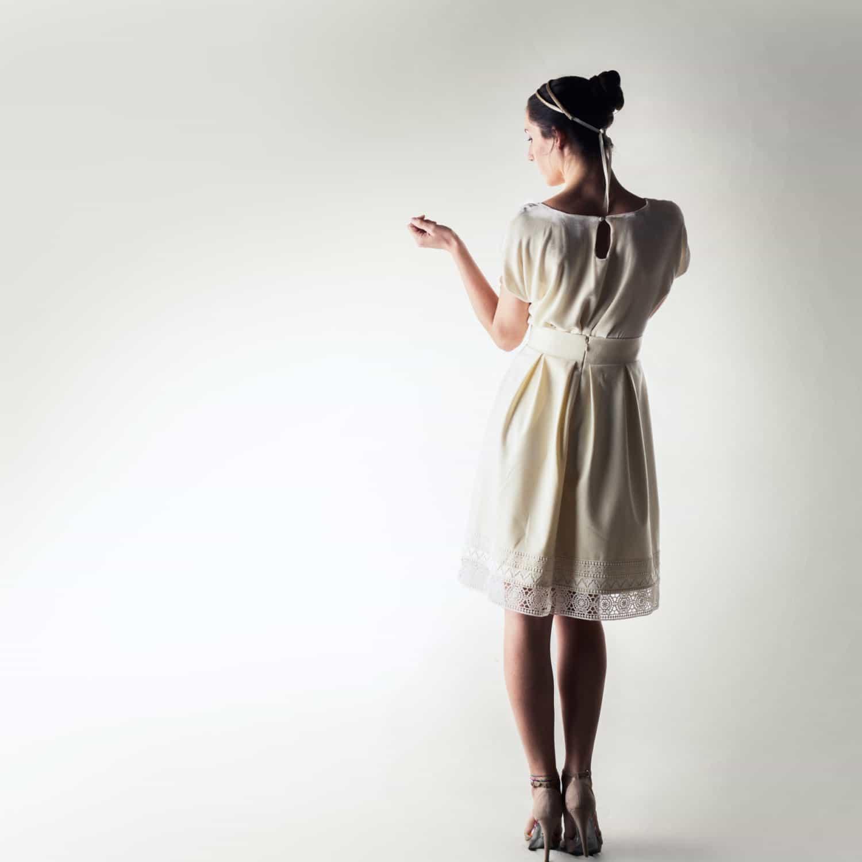 Wedding Skirt Winter Dress Separates Wool Bridal Unique