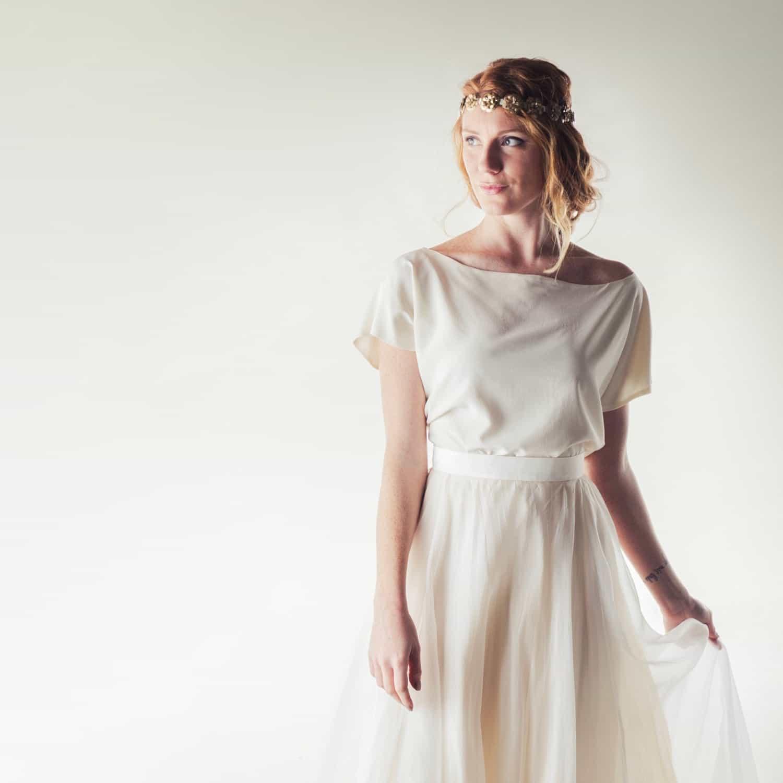 Crepe De Chine Silk Blouse Larimeloom Handmade Italian Dress