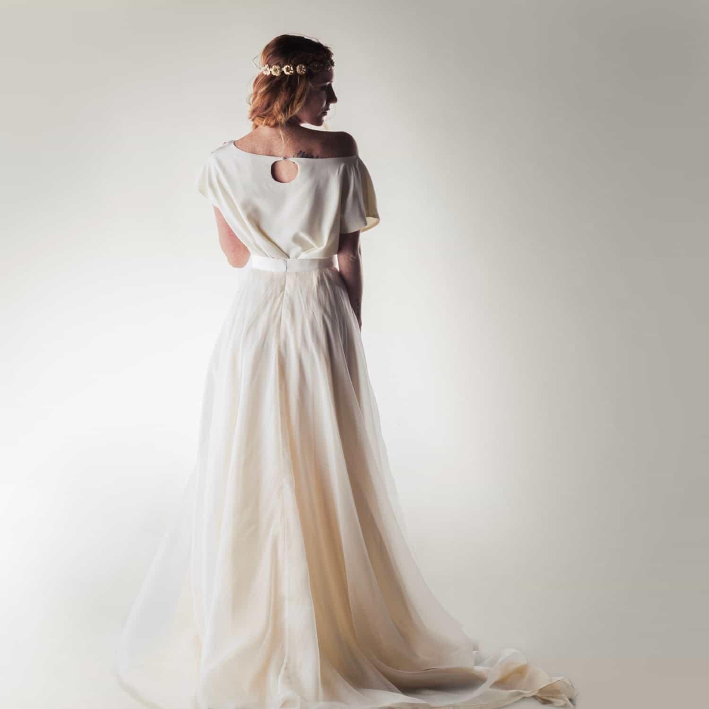Crepe de chine silk blouse larimeloom handmade italian dress for Best dress for wedding reception