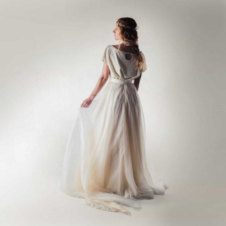 Wedding top, Silk blouse, Wedding separates, Keyhole top, Simple wedding dress, Reception dress, Casual wedding dress, Alternative wedding