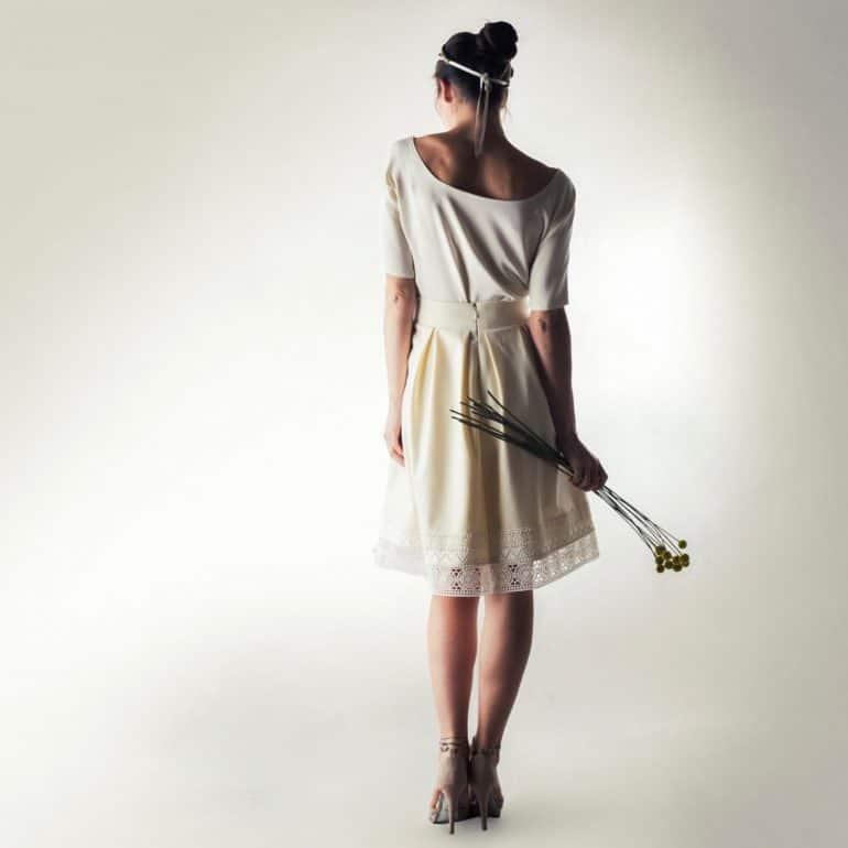 Wedding top, Silk blouse, Wedding top, Two piece dress, Simple wedding dress, Reception dress, Casual wedding dress, Alternative wedding