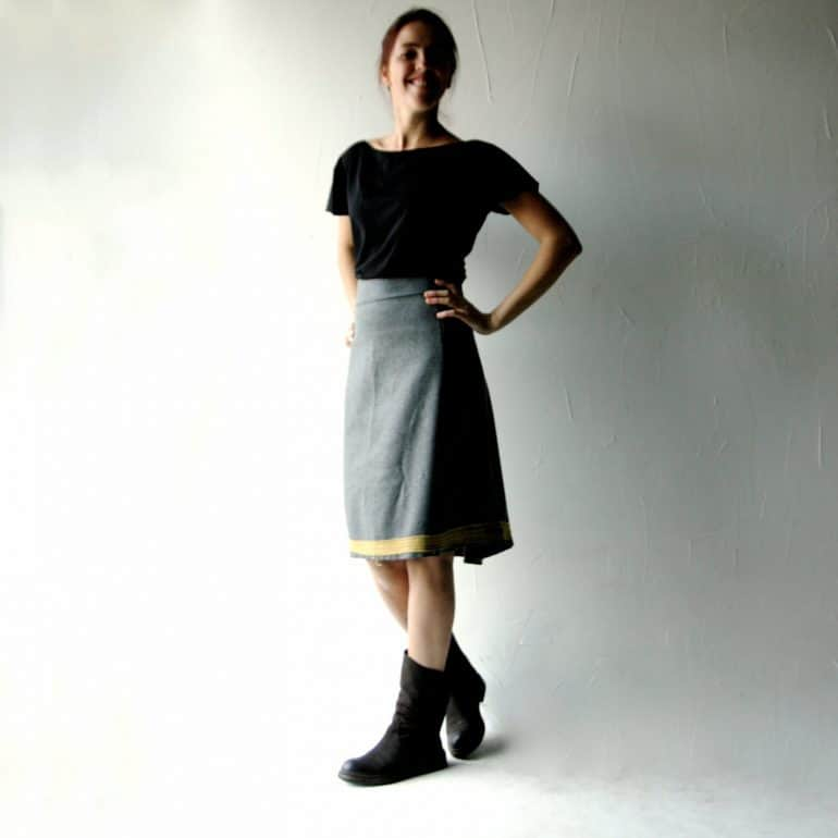 Wool skirt, grey skirt, winter skirt, womens clothing, winter clothes, high waist skirt, aline skirt, knee length skirt, pencil skirt
