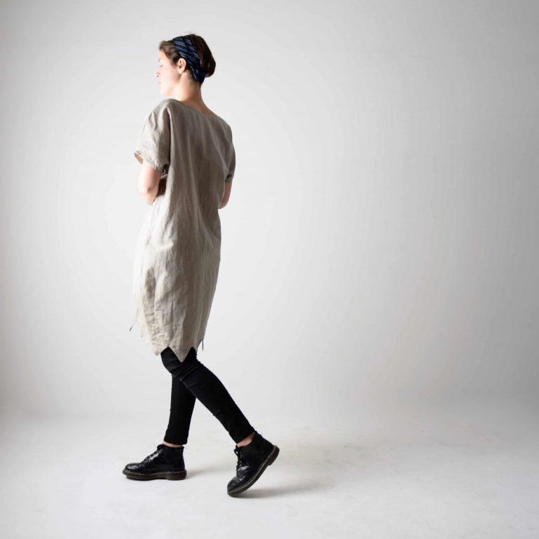 Natural linen tunic dress