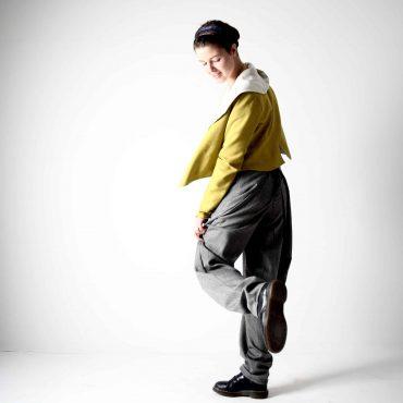 Pantaloni drappeggiati grigi