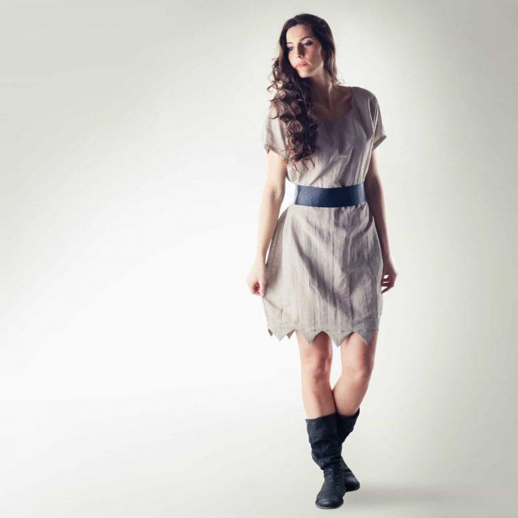 Natural linen tunic dress