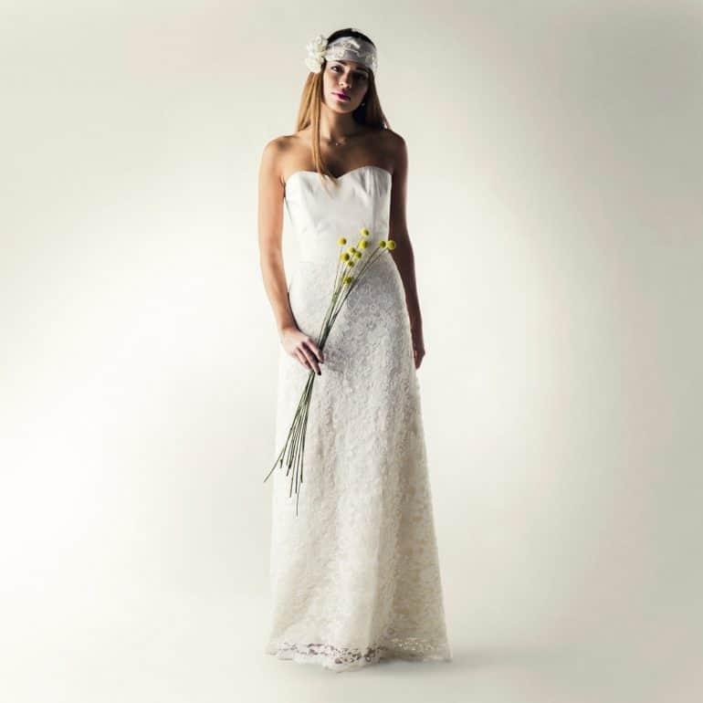 Lace wedding dress separates