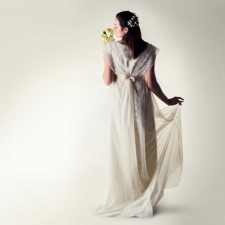 Holly ~ Silk tunic wedding dress - Larimeloom
