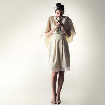 Mantella da sposa in lana