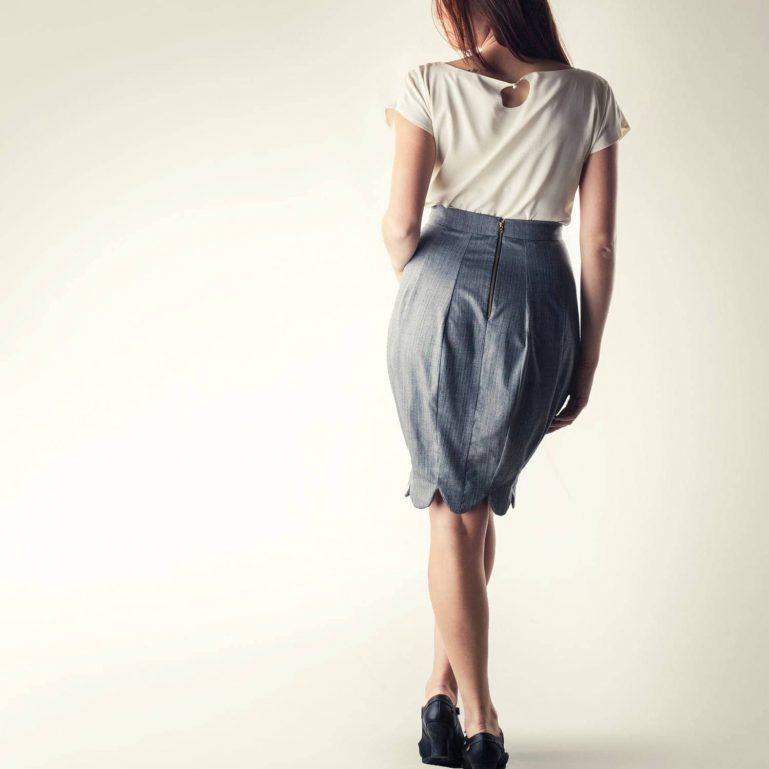 Pencil skirt, Grey skirt, High waist skirt, Winter skirt, Women's clothing, winter clothes, Hourglass skirt, Office clothing, Formal skirt