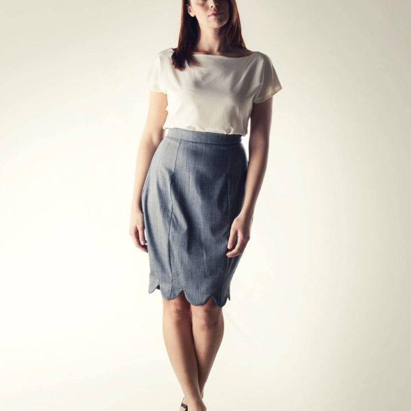 Pencil skirt, Grey skirt, High waist skirt, Winter skirt, Women's clothing, winter clothes, Hourglass skirt, Office clothing, Formal skirt