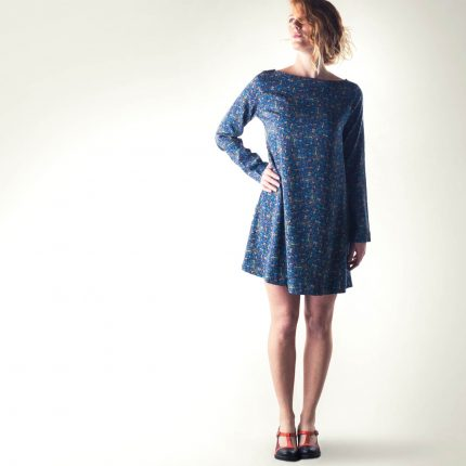 Sweater dress, Tunic dress, Blue dress, Long sleeve dress, Wool dress, Womens clothing, Day dress, Maternity clothes, Floral dress, Winter