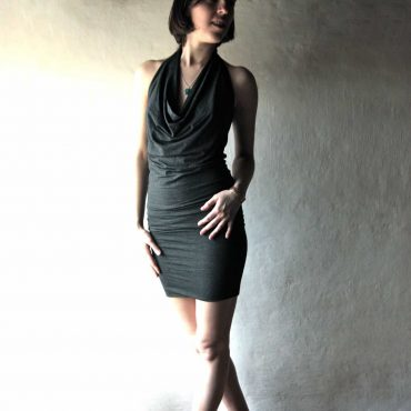 Fitted halter dress