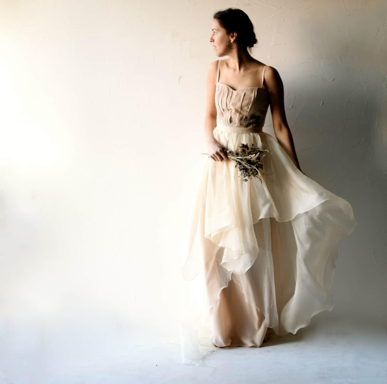 Wedding Dress Blush Bohemian Corset