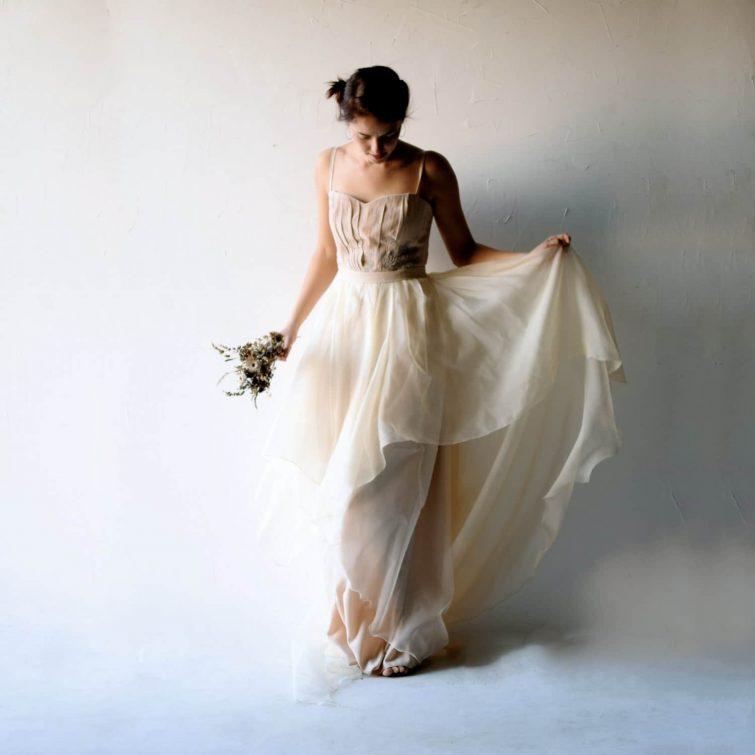 Wedding dress, blush wedding dress, Bohemian wedding dress, Blush wedding dress, Corset wedding dress, Princess wedding dress, boho, ASTILBE