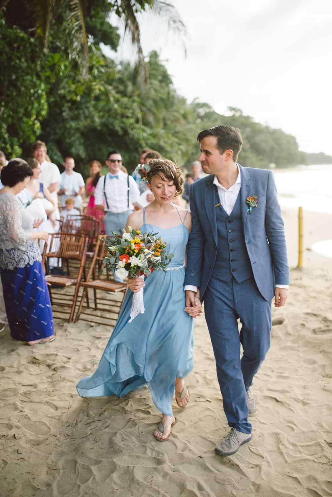 blue wedding dress by Larimeloom