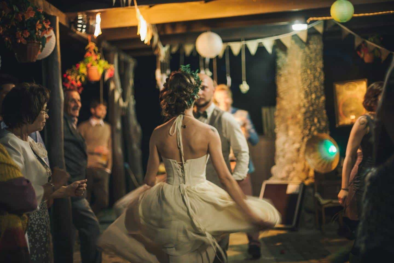 Real wedding wearing larimeloom
