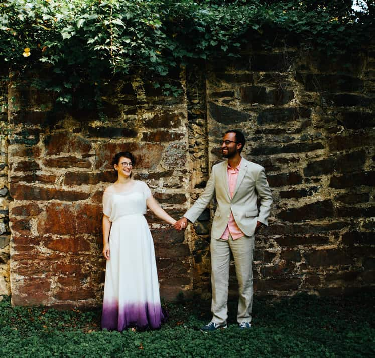 Cari's Inky Purple Dip Dyed Wedding Dress