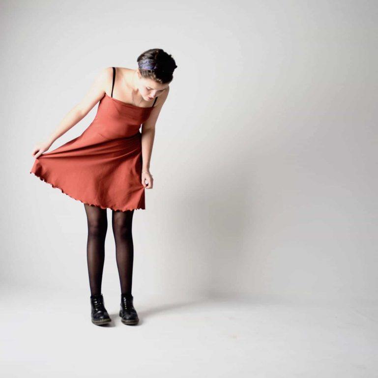 Half circle cotton jersey skirt