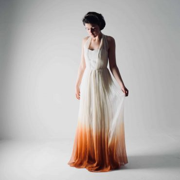 Helianthus ~ Ombré wedding dress, dip dyed wedding dress
