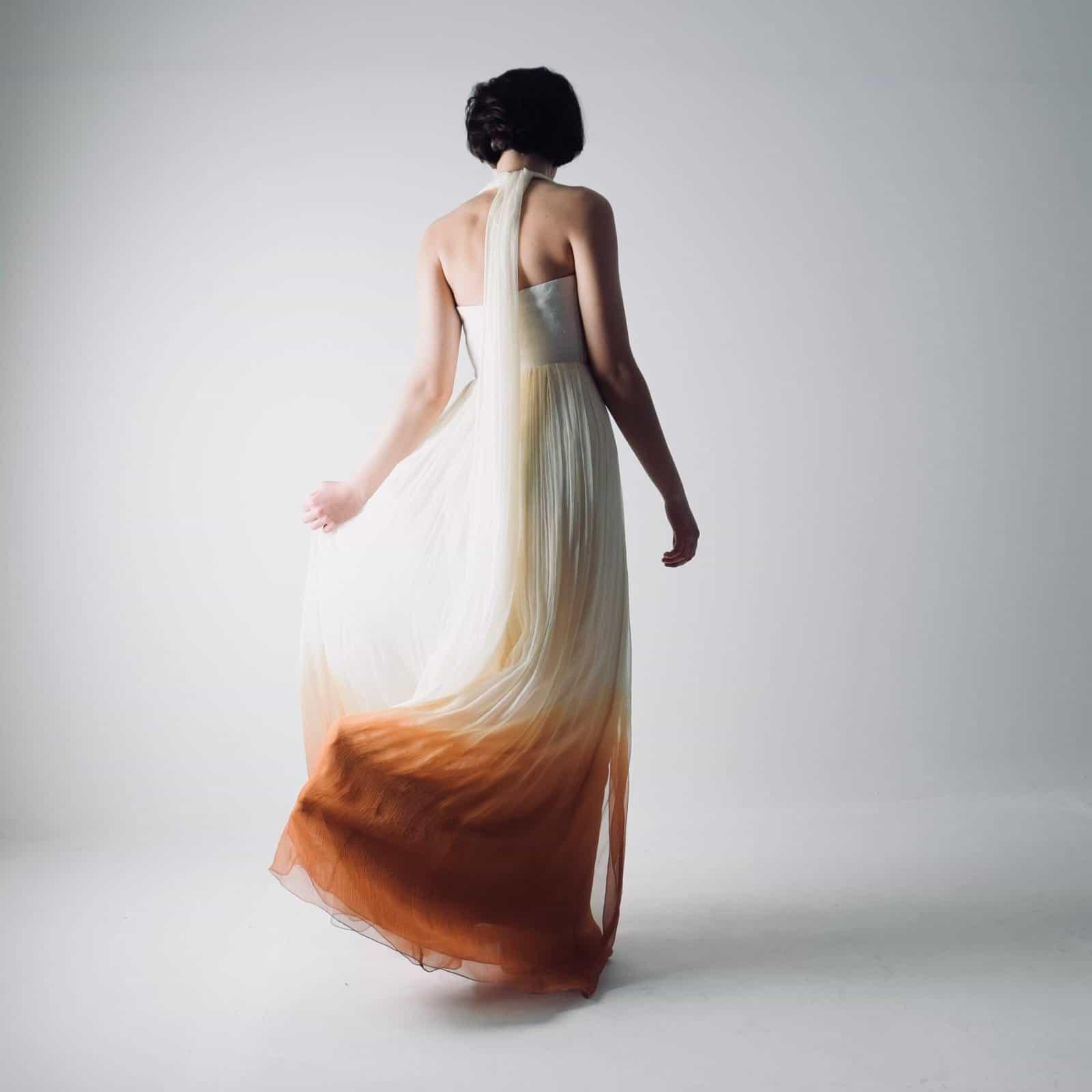 Helianthus ~ Ombré wedding dress, dip dyed wedding dress