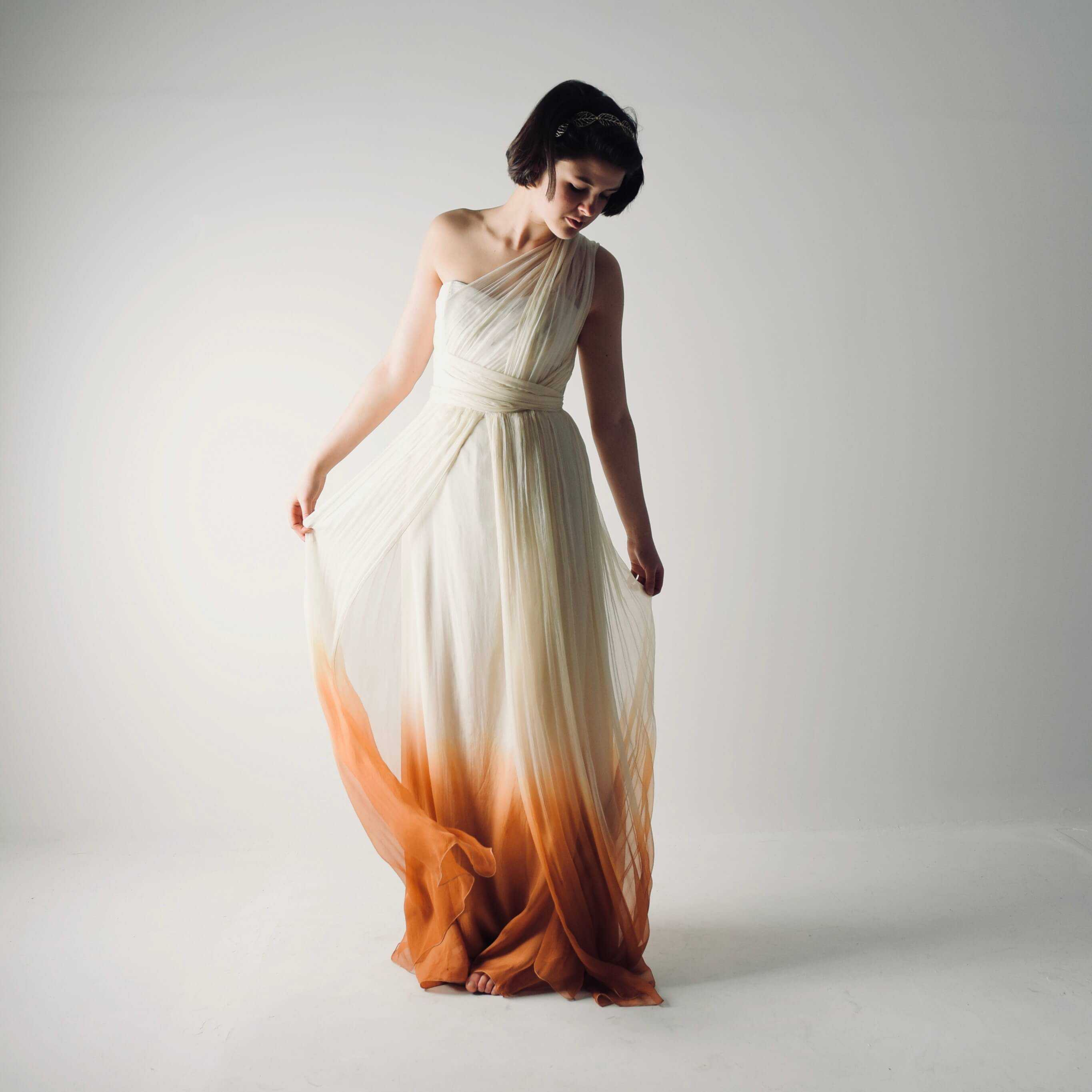 Where can i get my wedding dress dip dyed