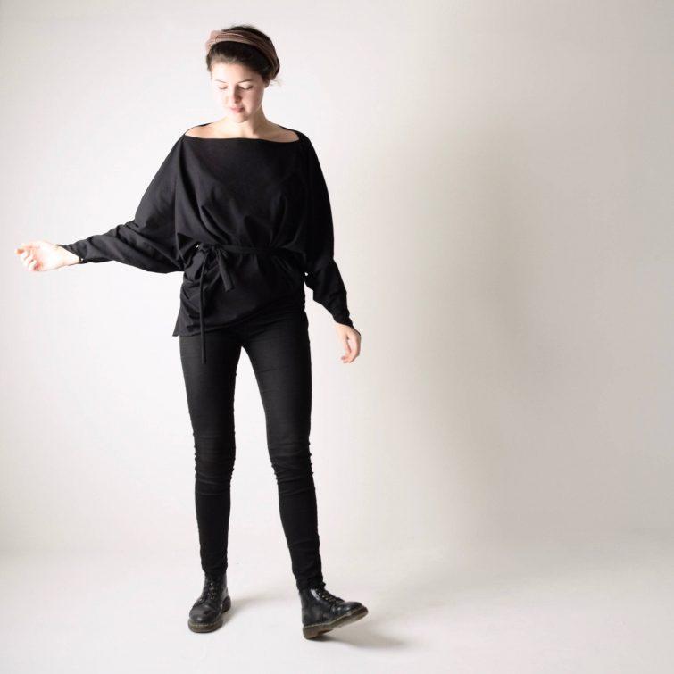 Asymmetrical Kimono top
