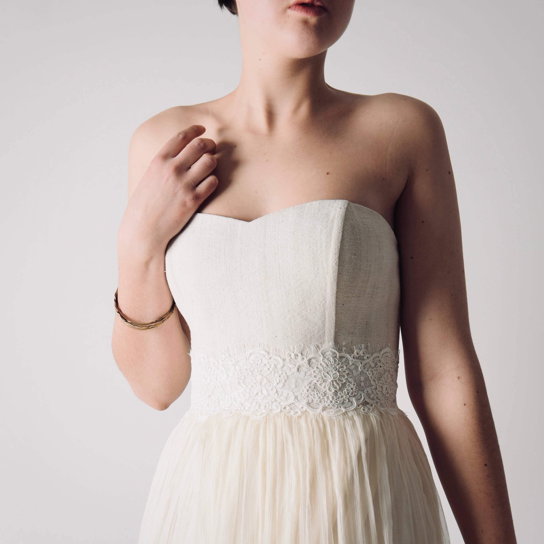 Daisy ~ Lace and Silk bridal sash