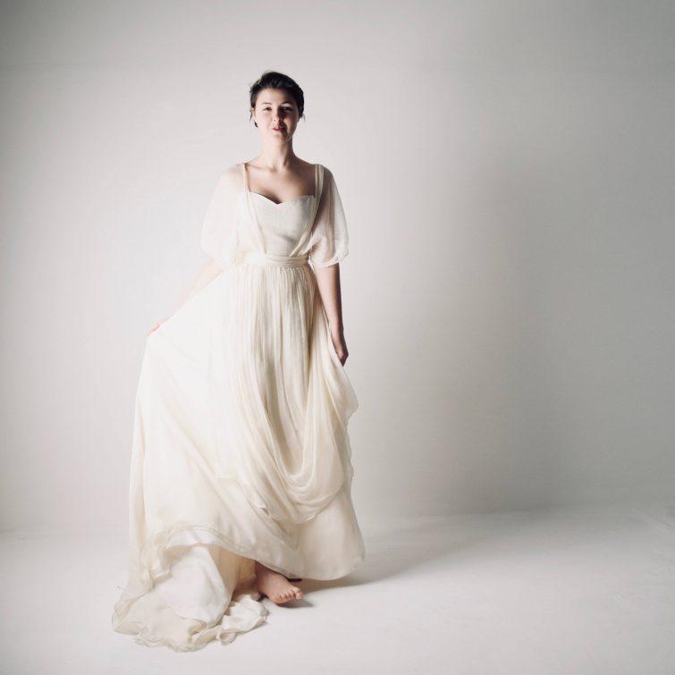 Chiffon Bohemian Wedding Dress