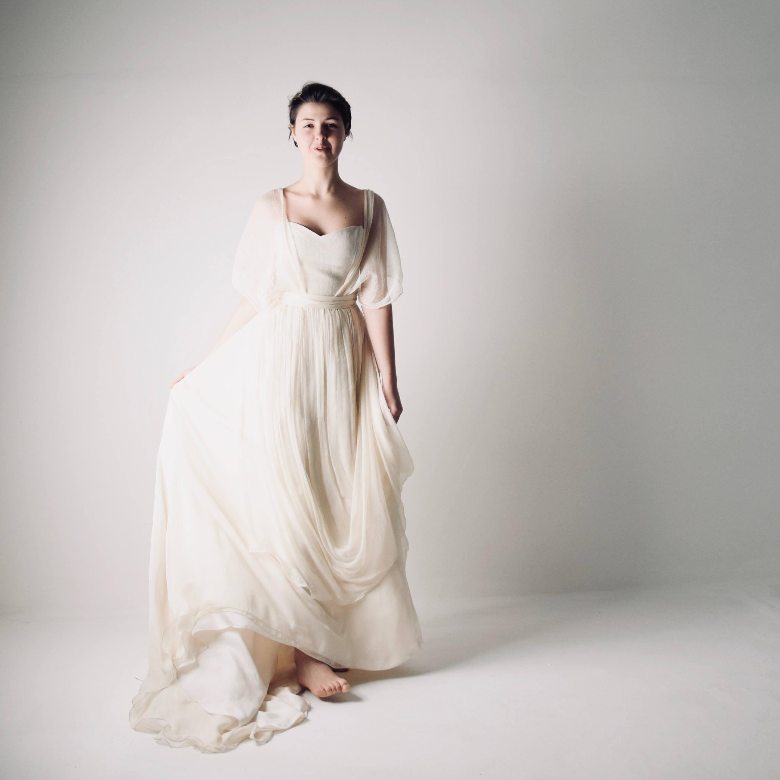 Bohemian Wedding Dress.Papaver Chiffon Wedding Dress