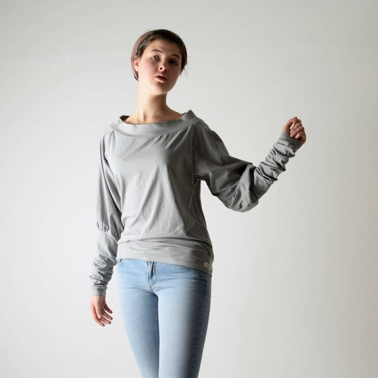 Cotton Boat Neck Sweatshirt