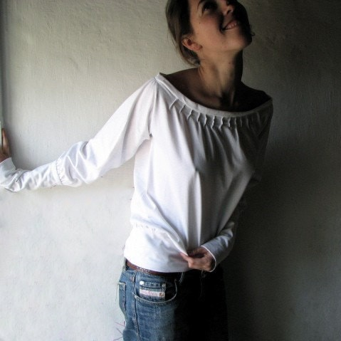 Cotton Pleated Blouse