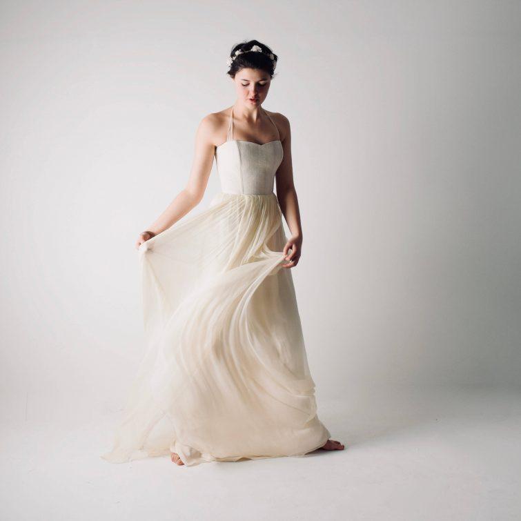 Tilia ~ Hemp and silk Wedding Dress