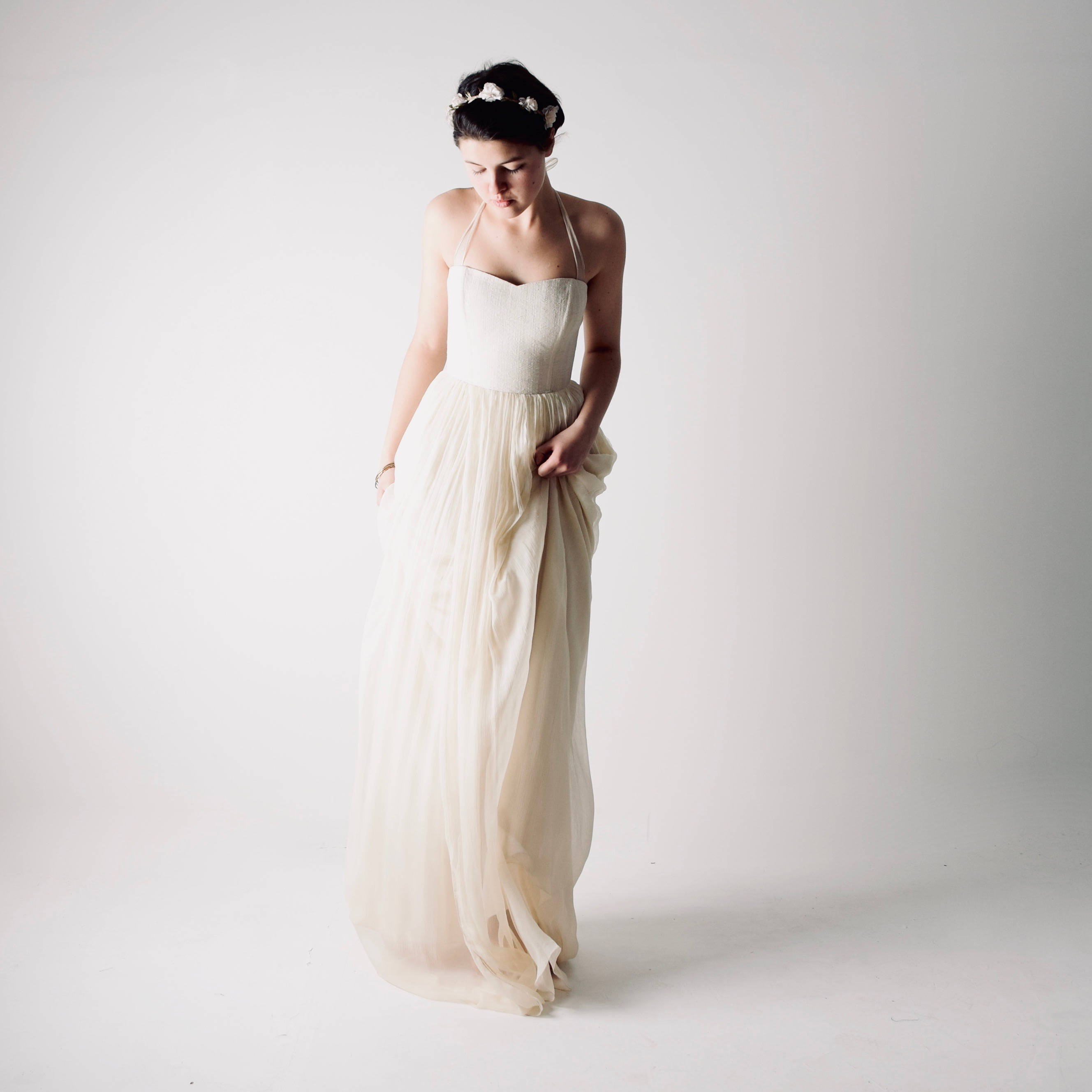 Tilia ~ Hemp Wedding Dress - Larimeloom Handmade Clothing