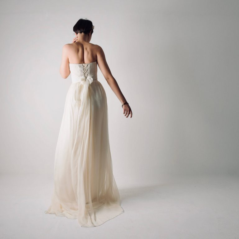 Tilia ~ Hemp and silk Wedding Dress