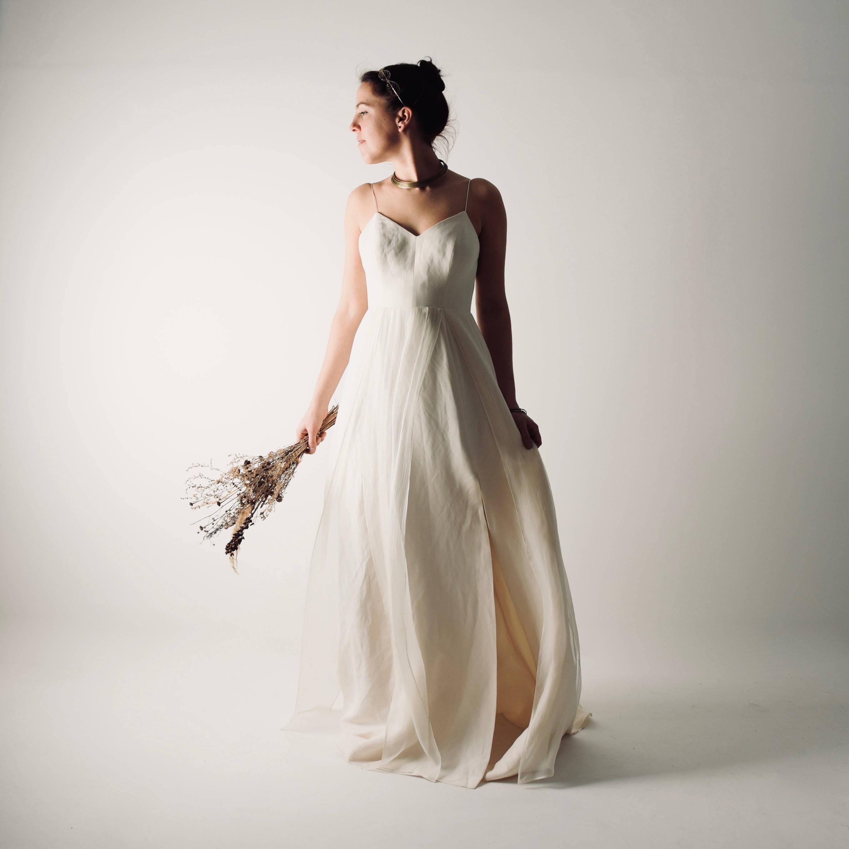 Linen Modern Wedding Dress Echinacea Gt Gt Larimeloom