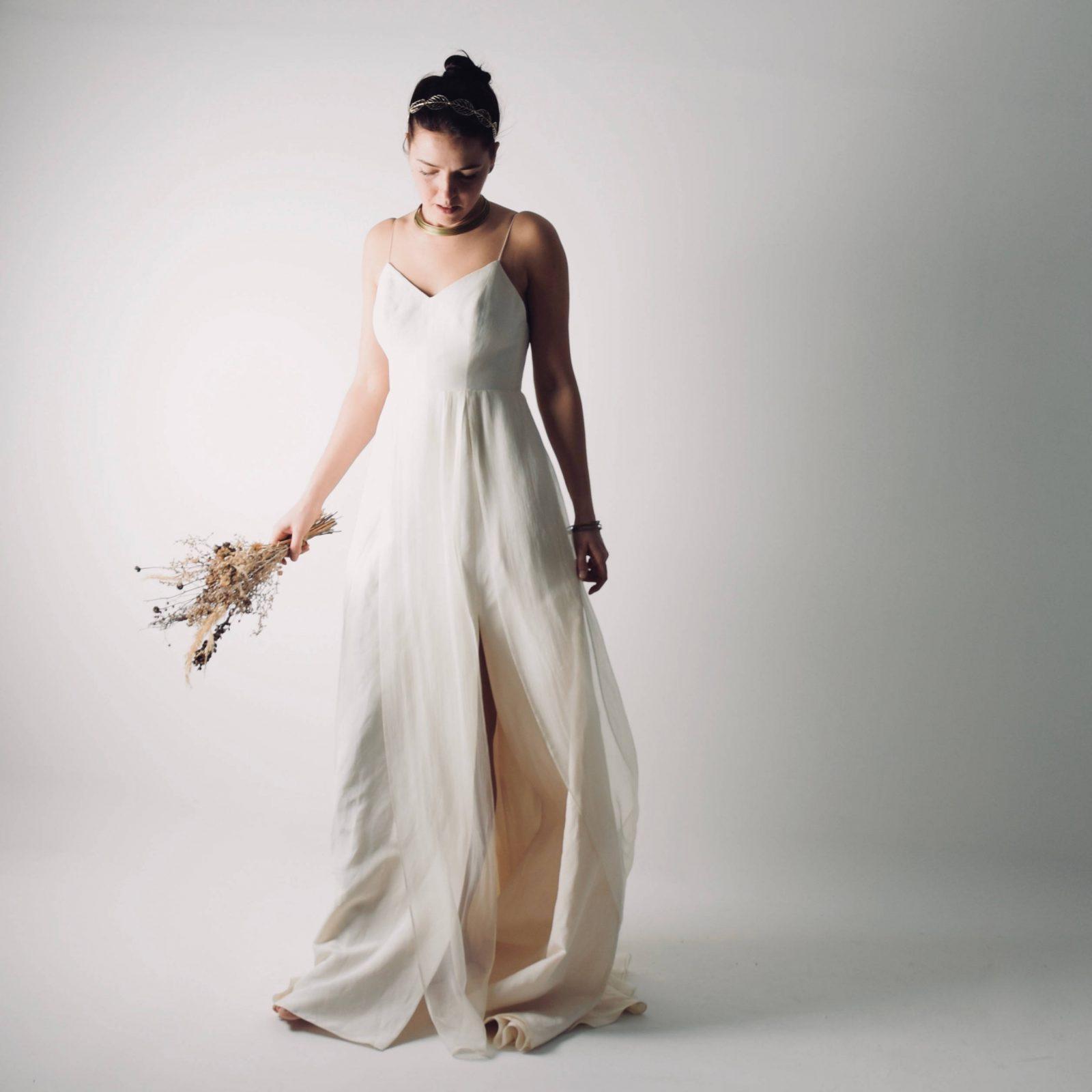 Echinacea ~ Linen Modern Wedding ~ Simple wedding dress by ...