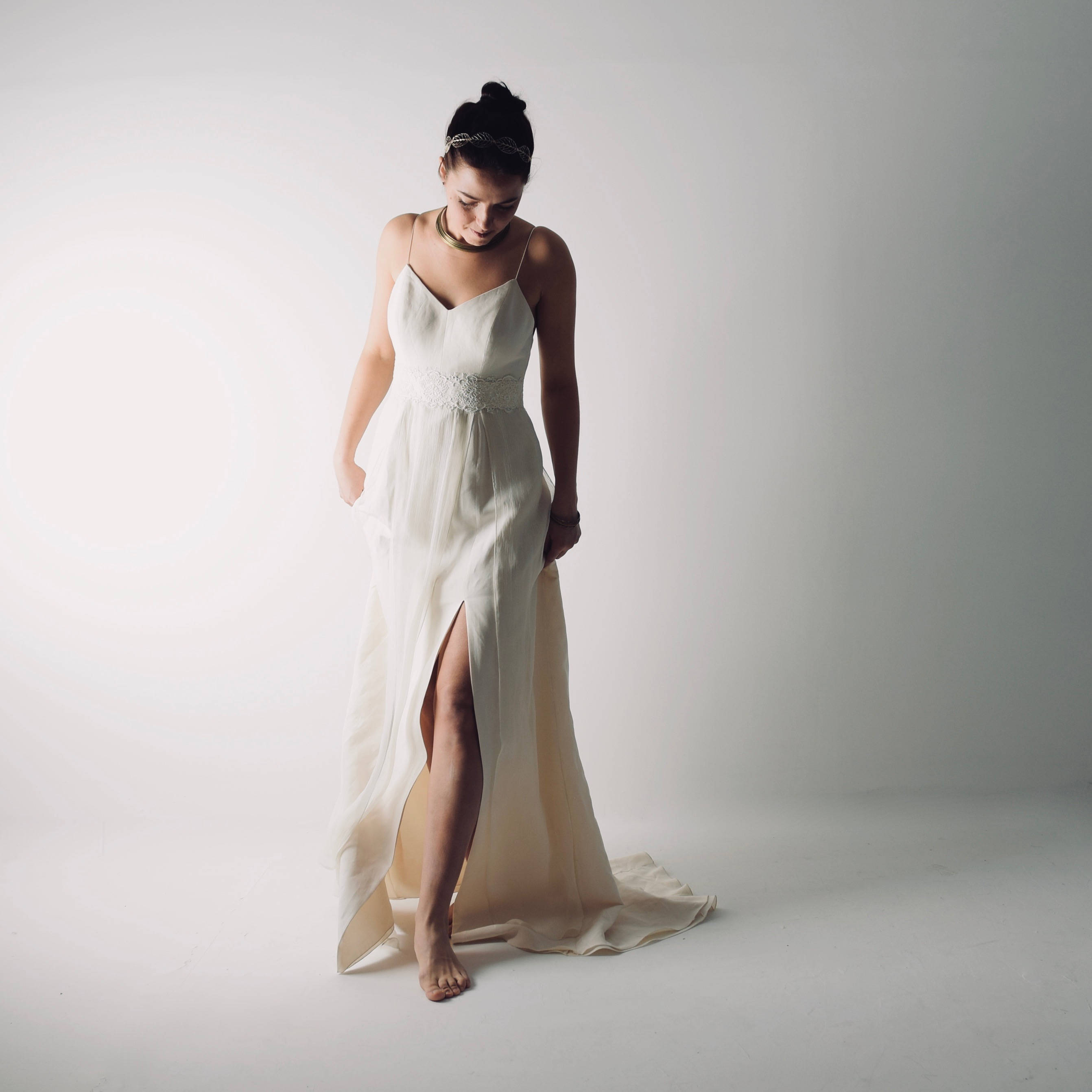 size 40 34d83 3745a Echinacea ~ Abito da sposa moderno in lino