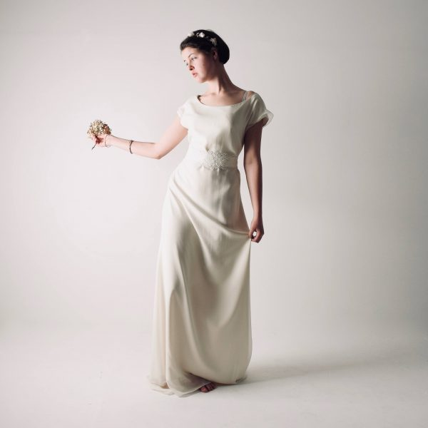Althea ~ Long tunic wedding dress