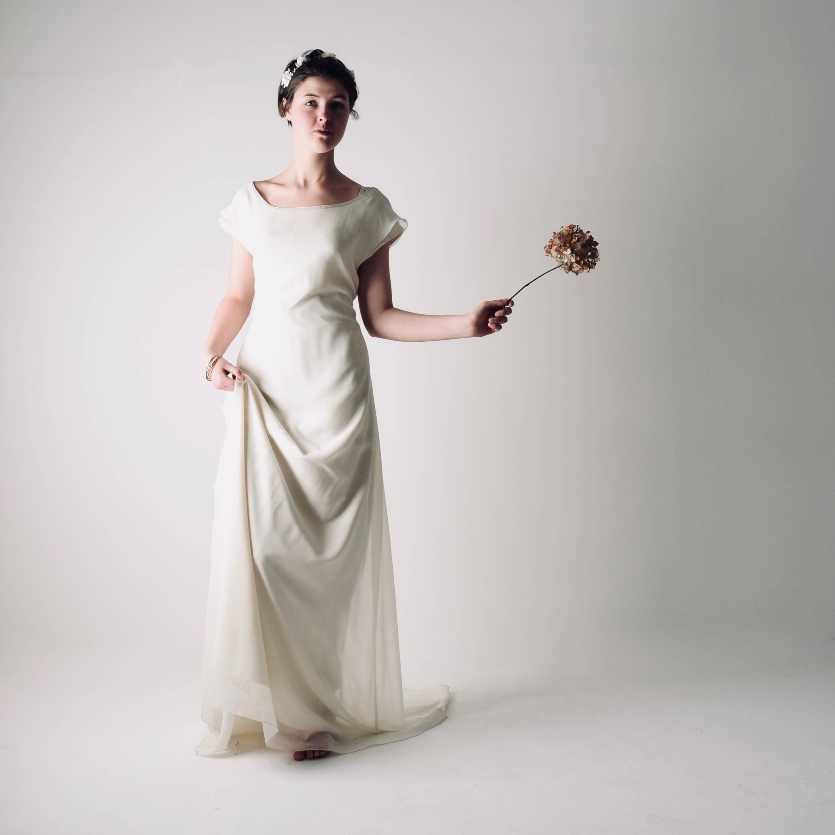 Althea ~ Long tunic wedding dress - Larimeloom handmade clothing